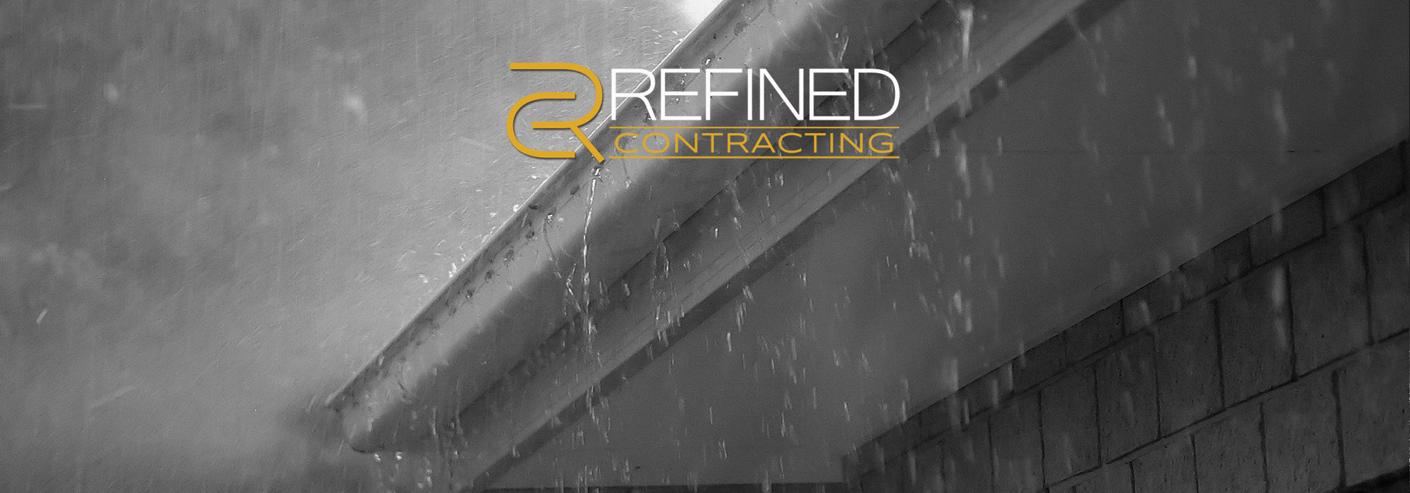 New rain gutters by Refined Construction can spare your home of destructive water intrusion by directing rain water away from your home.